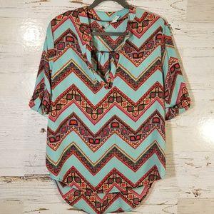 Discreet adorable polyester blouse